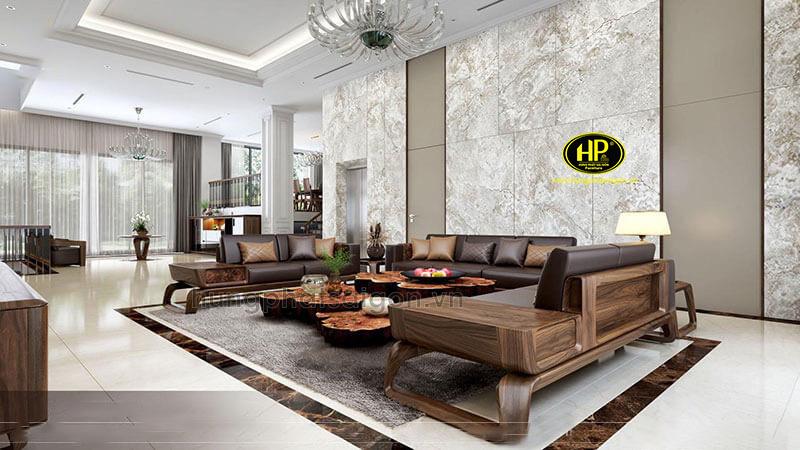 Ghế sofa gỗ phòng khách hiện đại HS-30