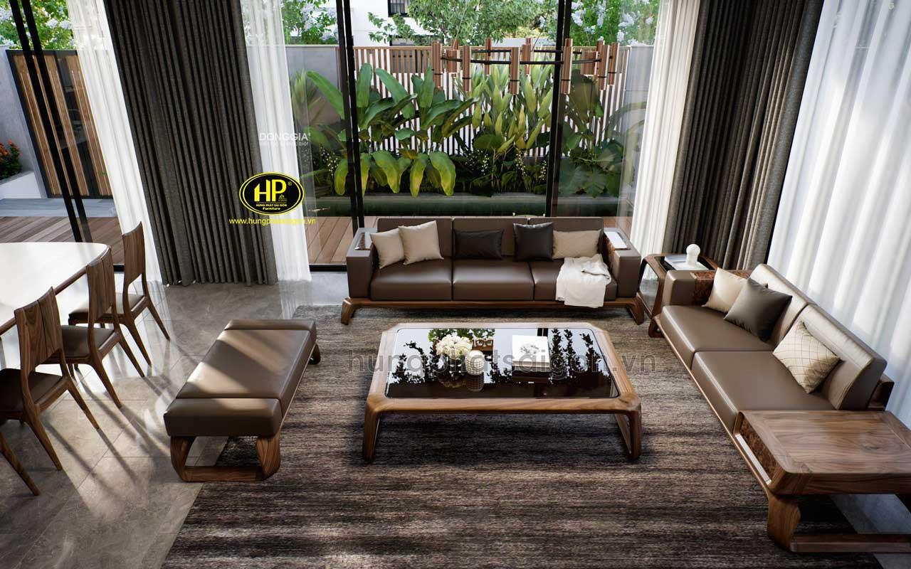 Ghế sofa gỗ sồi Nga hiện đại HS-23