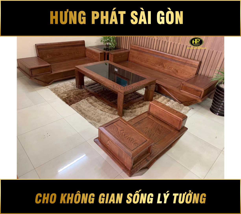 Ghế sofa gỗ sồi hiện đại HS-13