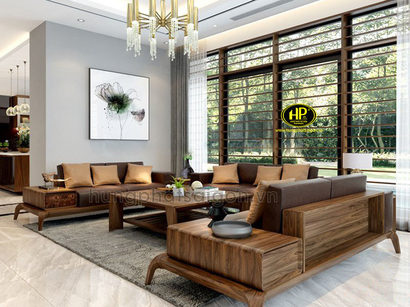 Ghế sofa gỗ sồi hiện đại HS-31