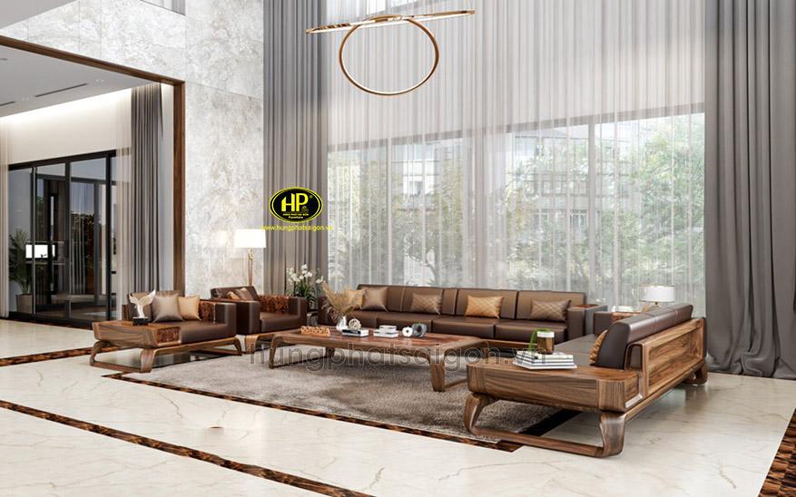 Ghế sofa gỗ sồi nguyên khối HS-26