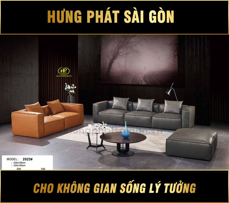 Ghế sofa phòng khách nhập khẩu cao cấp NK-2023