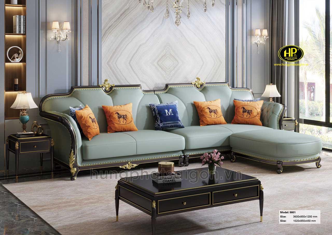 Ghế sofa tân cổ điển góc L AT-9801