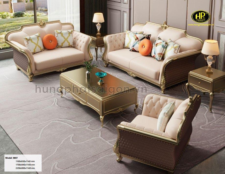 Ghế sofa tân cổ điện hiện đại AT-9807