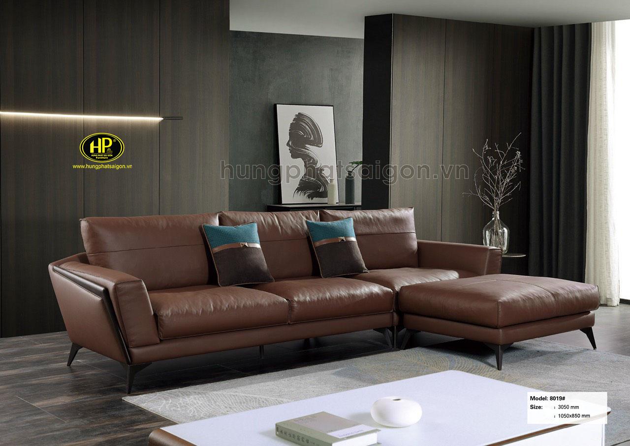 Sofa da bò cao cấp nhập khẩu NK-8019