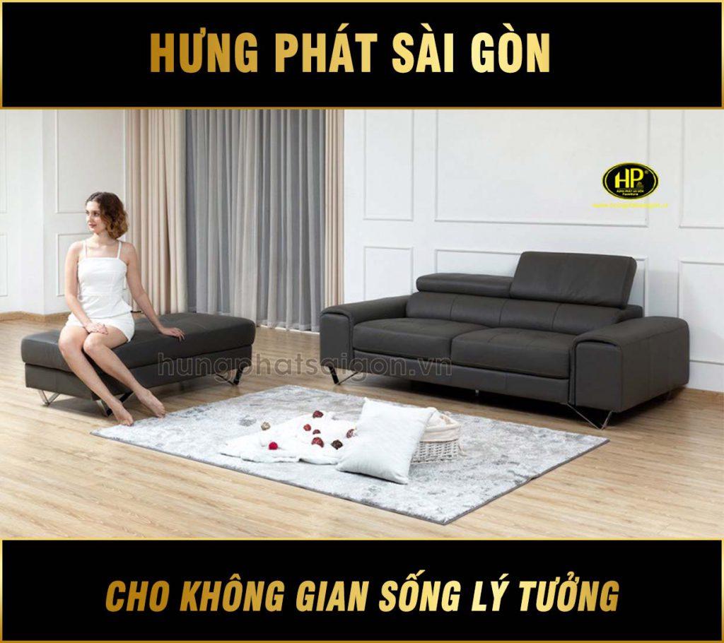Sofa băng da cao cấp H-209
