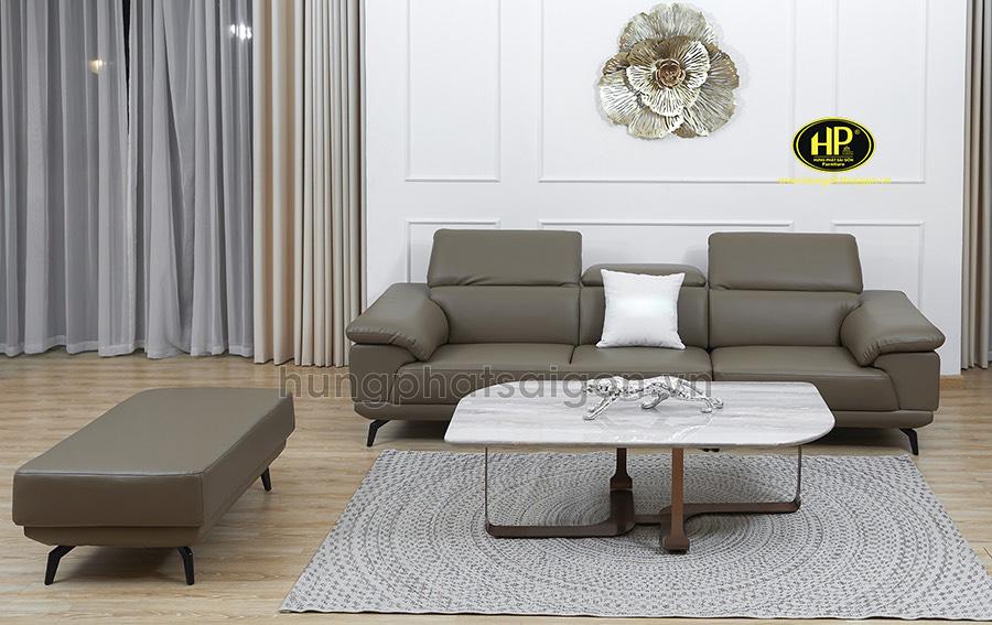 Sofa băng da cho phòng khách H-196