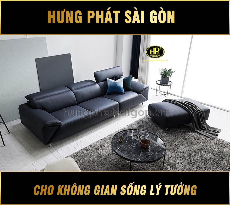 Sofa băng da đẹp H-195