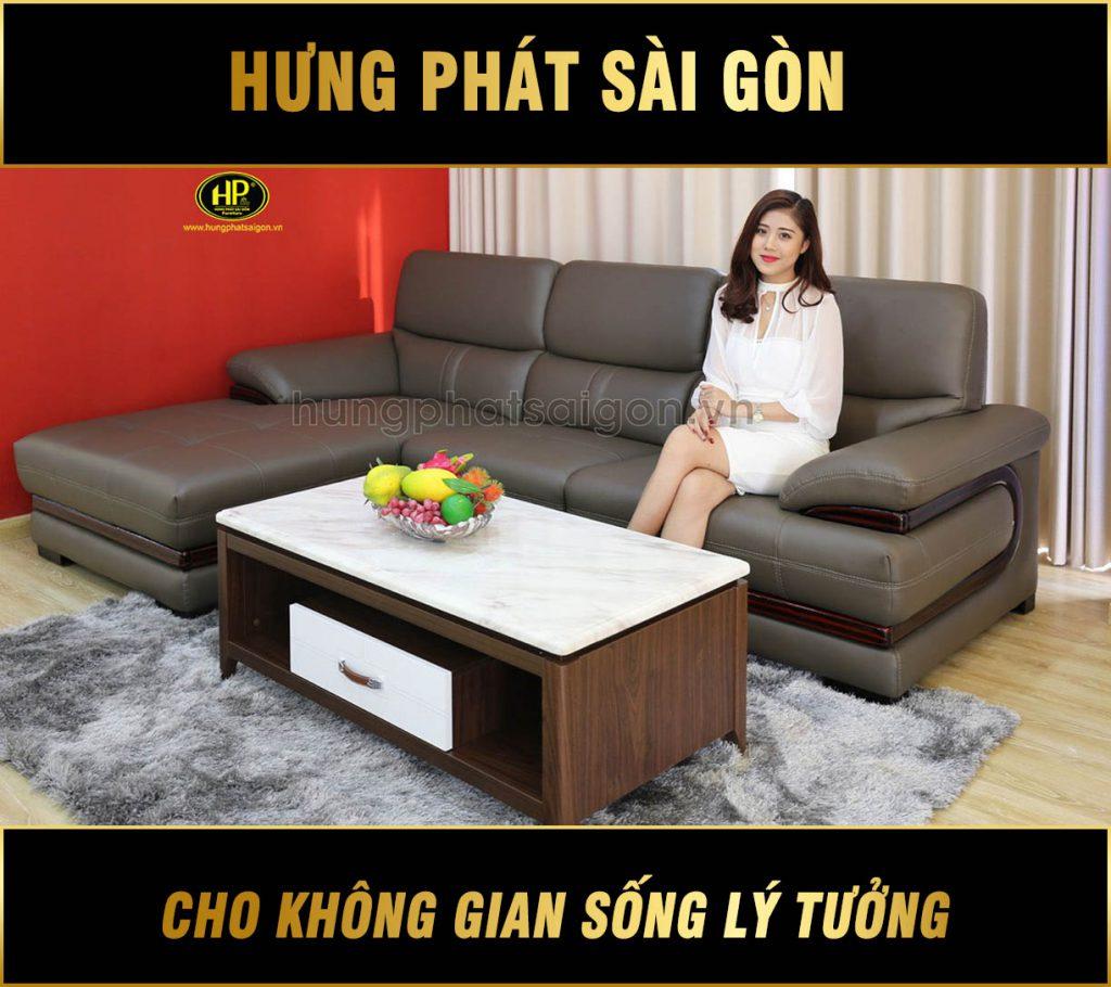 Sofa da cao cấp cho chung cư HD-77