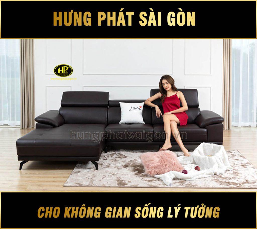 Sofa da cho căn hộ chung cư HD-71