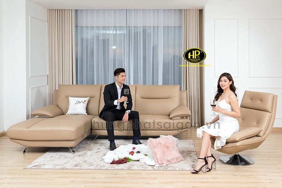 Sofa da hiện đại giá rẻ HD-76