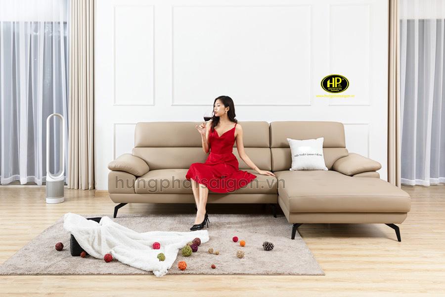 Sofa da hiện đại giá rẻ HD-81
