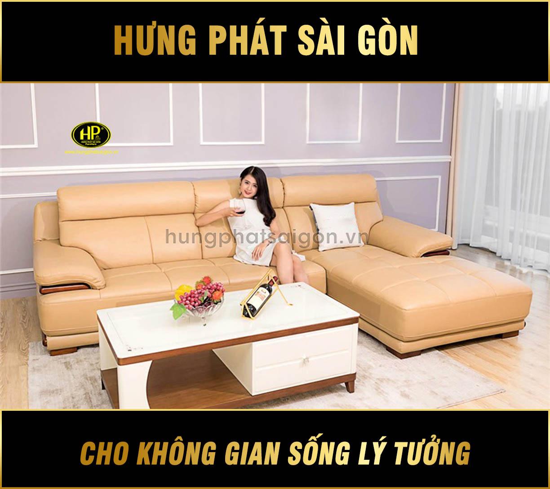 Sofa da phòng khách chung cư HD-72
