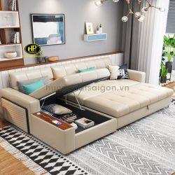 Ghế sofa có hộc tủ vừa tiện lại vừa giúp giải phóng không gian sinh hoạt cho các gia đình