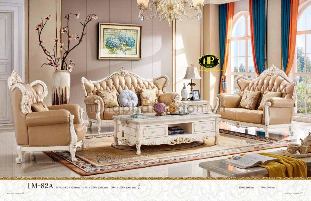 Sofa tân cổ điển thường có kích thước lớn, phù hợp với các căn biệt thự phong cách Châu Âu