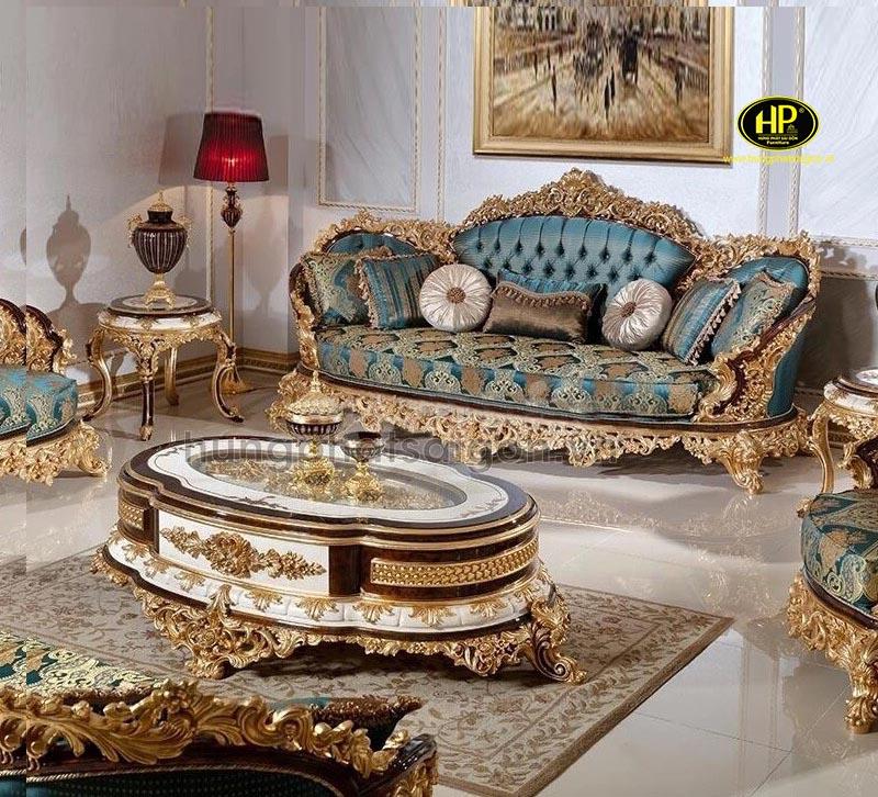 sofa tân cổ điển dát vàng