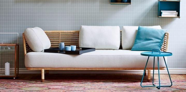 sofa mây tre hiện đại