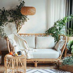 sofa mây tre đẹp hiện đại