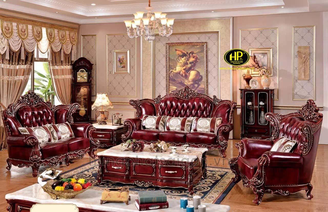 Sofa tân cổ điển phòng khách sang trọng 809
