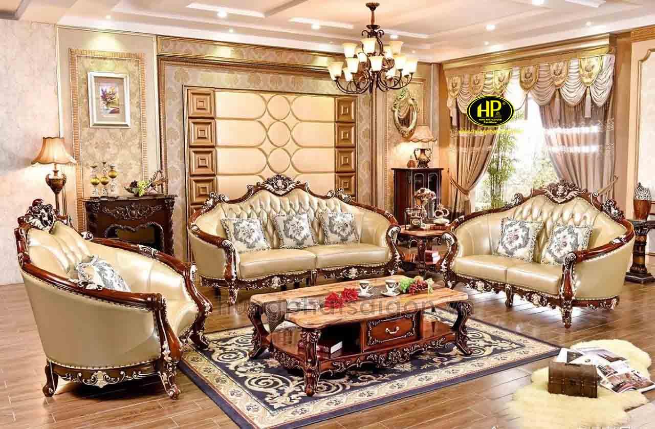 Sofa tân cổ điển phòng khách sang trọng 999