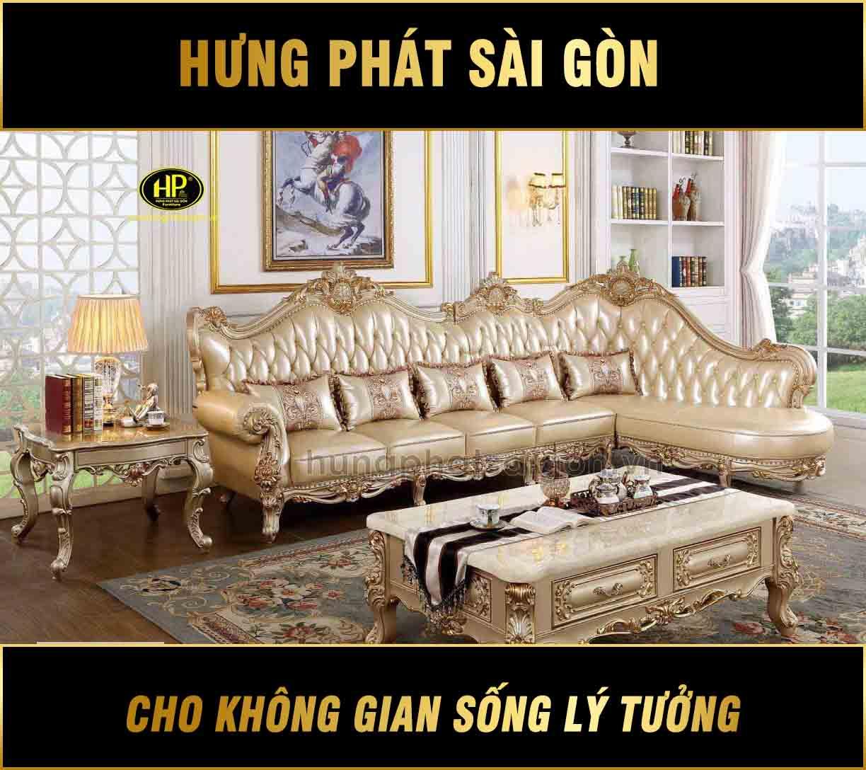 Ghế sofa da bò tân cổ điển cao cấp AT-862G