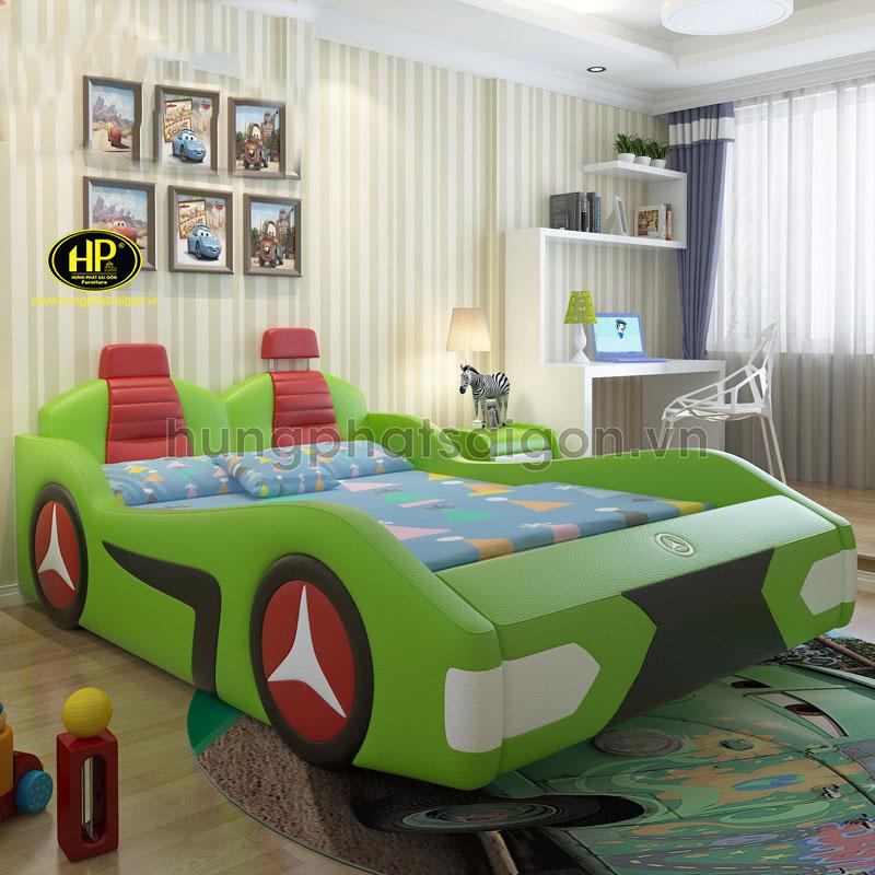 Giường Mercedes bọc da cho bé GTE-04
