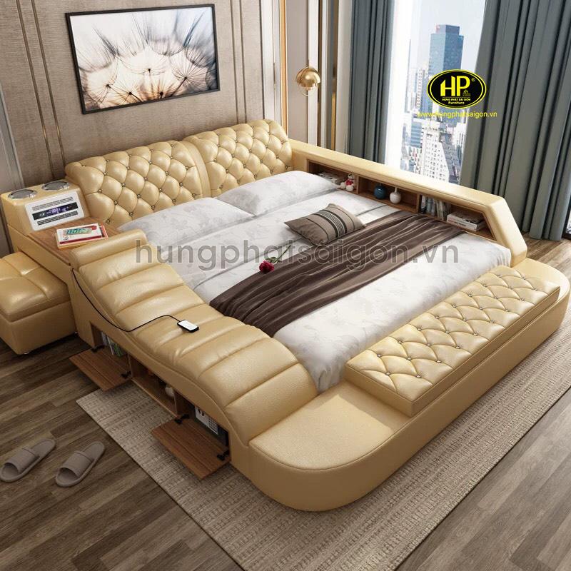 Giường bọc da thư giãn cao cấp GM-02