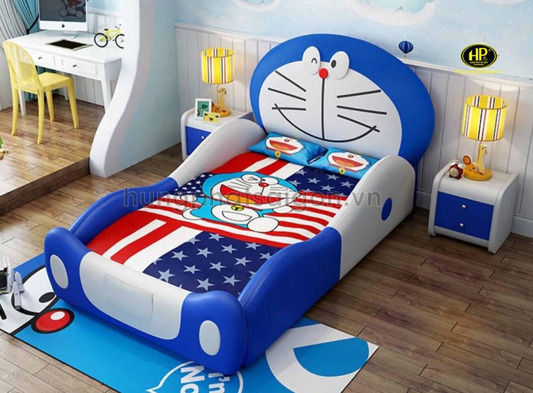 Giường ngủ bọc da Doreamon cho bé GTE-05