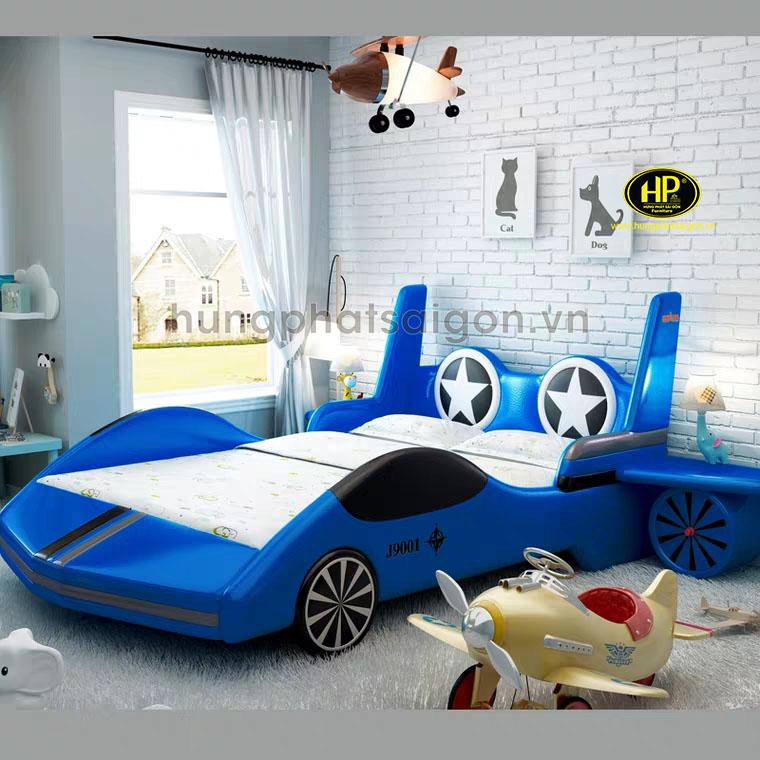 Giường ngủ bọc da cho bé hình máy bay GTE-06