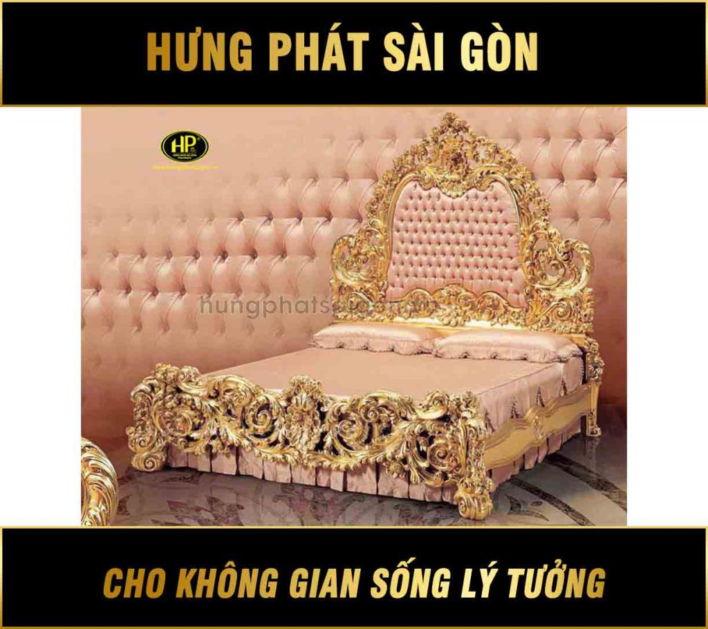 Giường tân cổ điển hoàng gia GV-03
