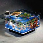 20 Mẫu bàn sofa hồ cá cảnh thuỷ sinh tuyệt đẹp cho phòng khách