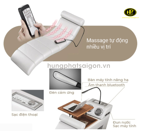 mô tả sản phẩm giường massage