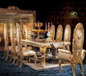 Bàn ăn dát vàng có mức giá cao hơn so với những mẫu bàn thông thường