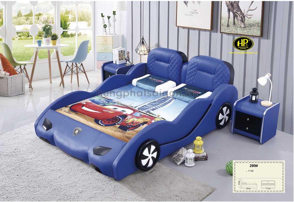 Mẫu giường hình ô tô kiểu dáng đáng yêu