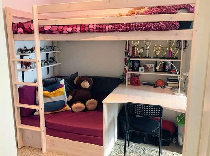Giường 2 tầng trẻ em được rất nhiều gia đình sử dụng