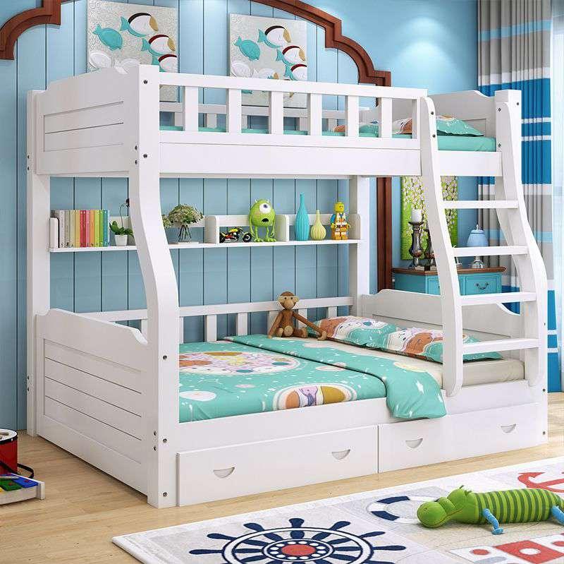 Mẫu giường kết hợp với bàn học, kiểu dáng trẻ trung