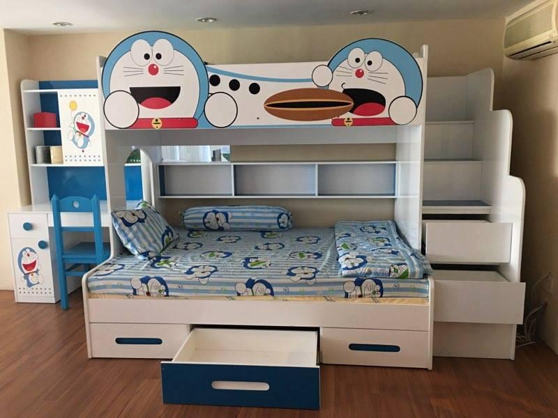 Giường tầng trẻ em hình Doremon đáng yêu