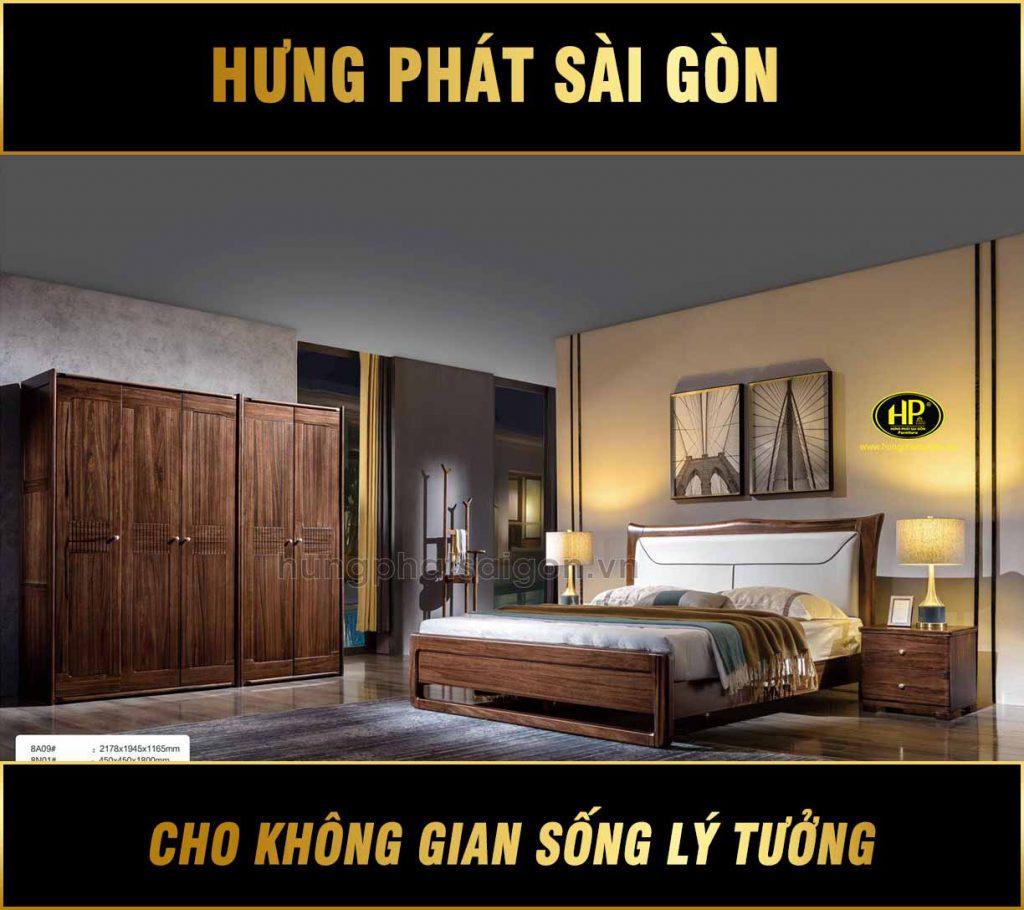 Bộ giường tủ cao cấp nhập khẩu TP-8A09