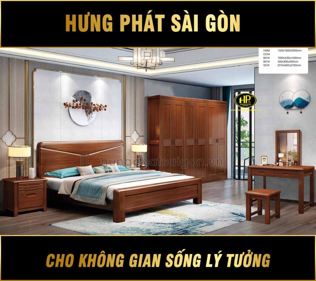Combo giường tủ gỗ cao cấp TP-H06