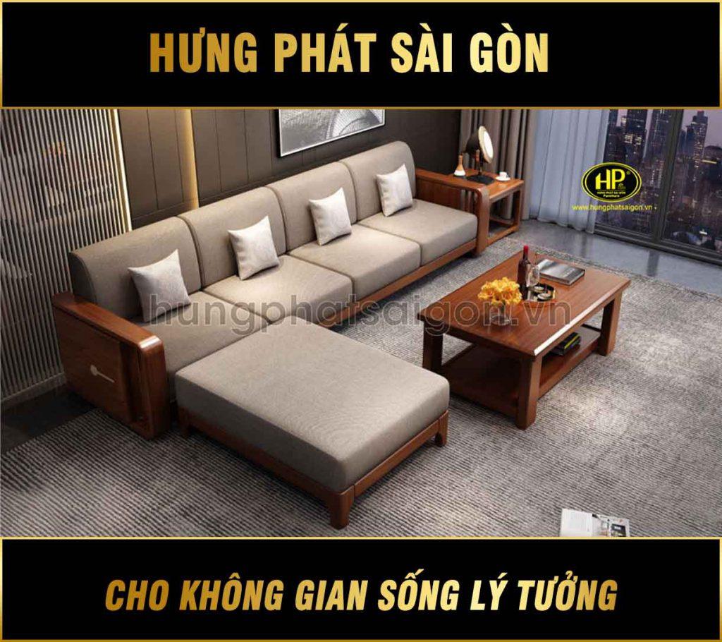 Ghế sofa gỗ nhập khẩu cao cấp AT-921