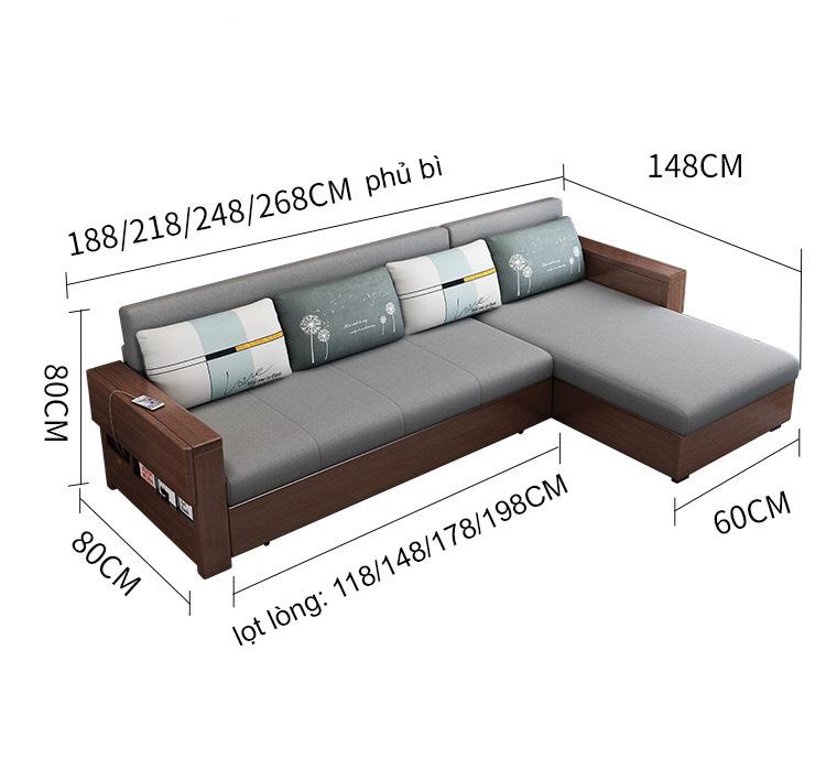 Mẫu ghế sofa giường chữ L Gk-2026