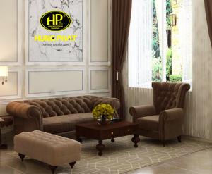 Ghế sofa dài 2m H-112 với thiết kế tân cổ điển độc đảo và khác biệt